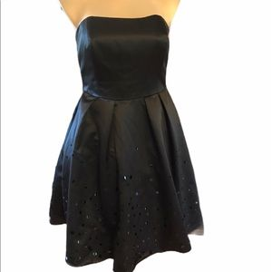 David's Bridal Size 16 Black Strapless Dress